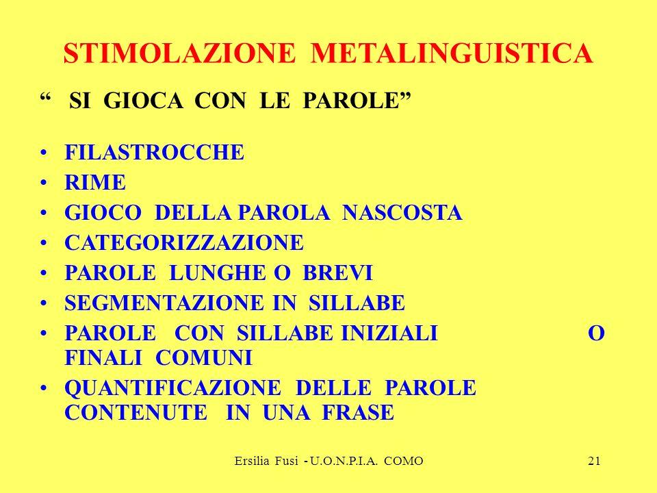 STIMOLAZIONE METALINGUISTICA