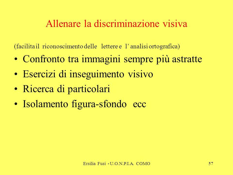 Allenare la discriminazione visiva