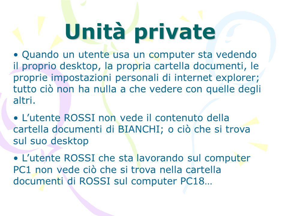Unità private