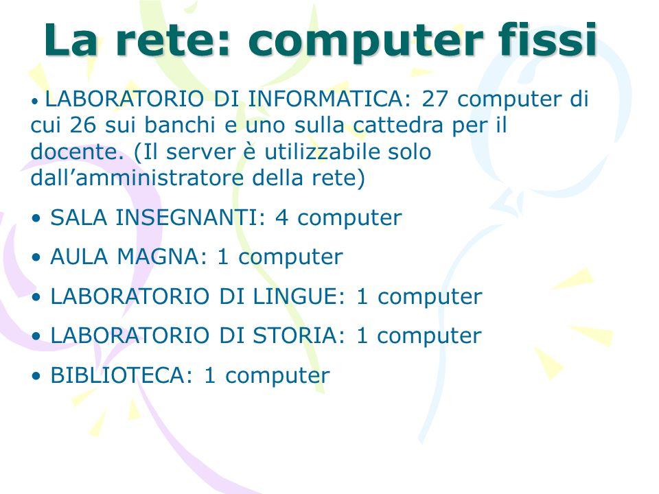 La rete: computer fissi