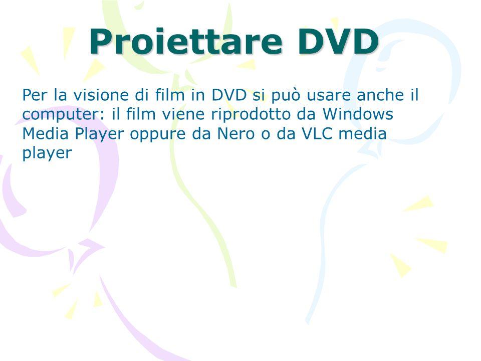 Proiettare DVD