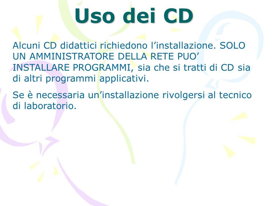 Uso dei CD