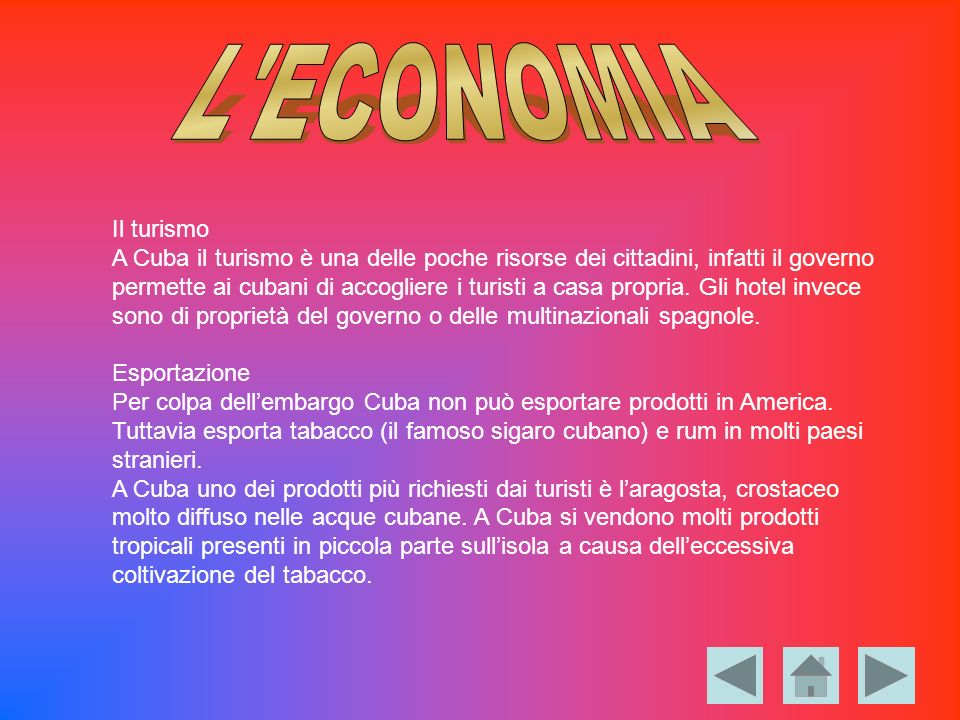 L ECONOMIA Il turismo.