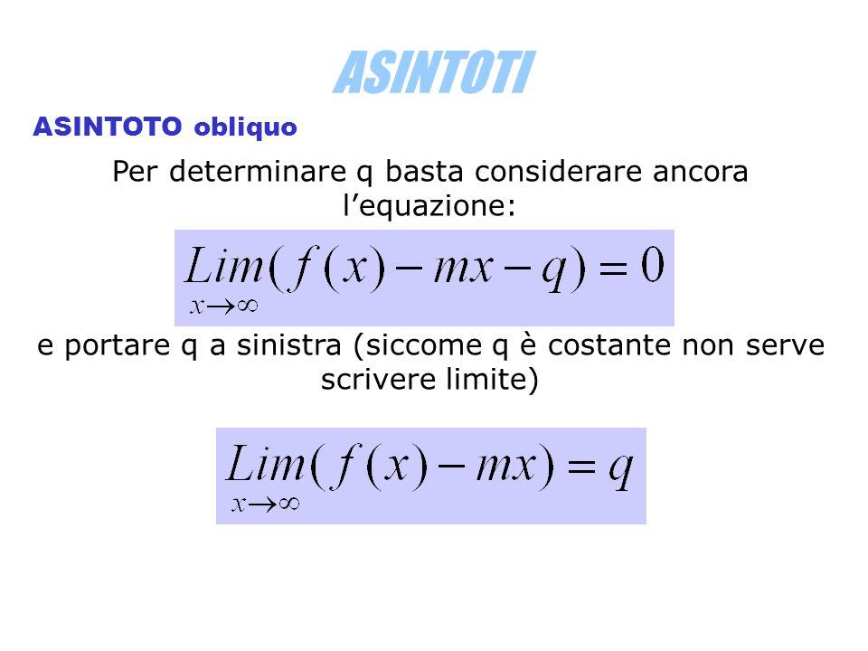 Per determinare q basta considerare ancora l'equazione: