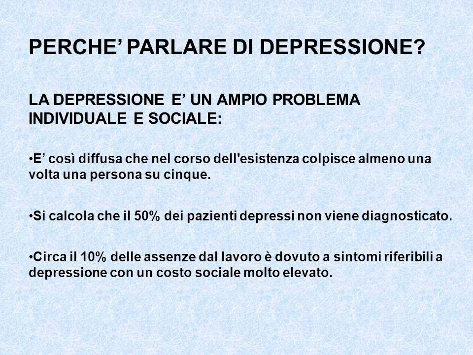 PERCHE' PARLARE DI DEPRESSIONE