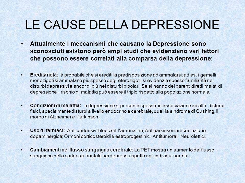 LE CAUSE DELLA DEPRESSIONE