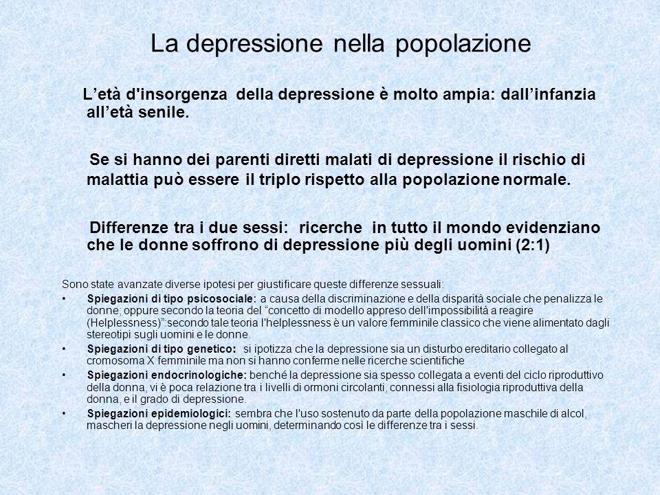 La depressione nella popolazione
