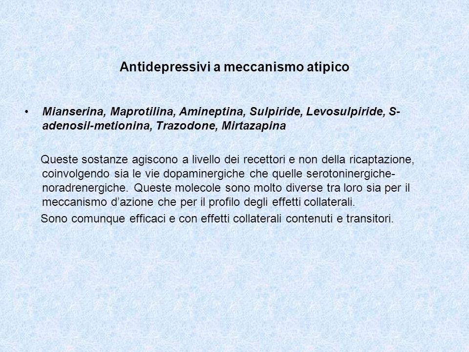 Antidepressivi a meccanismo atipico