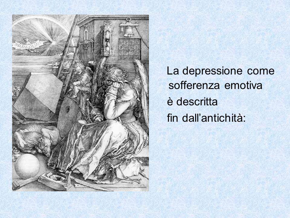 La depressione come sofferenza emotiva
