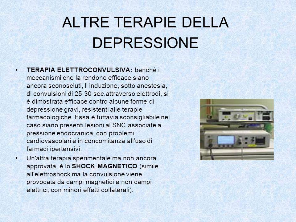 ALTRE TERAPIE DELLA DEPRESSIONE