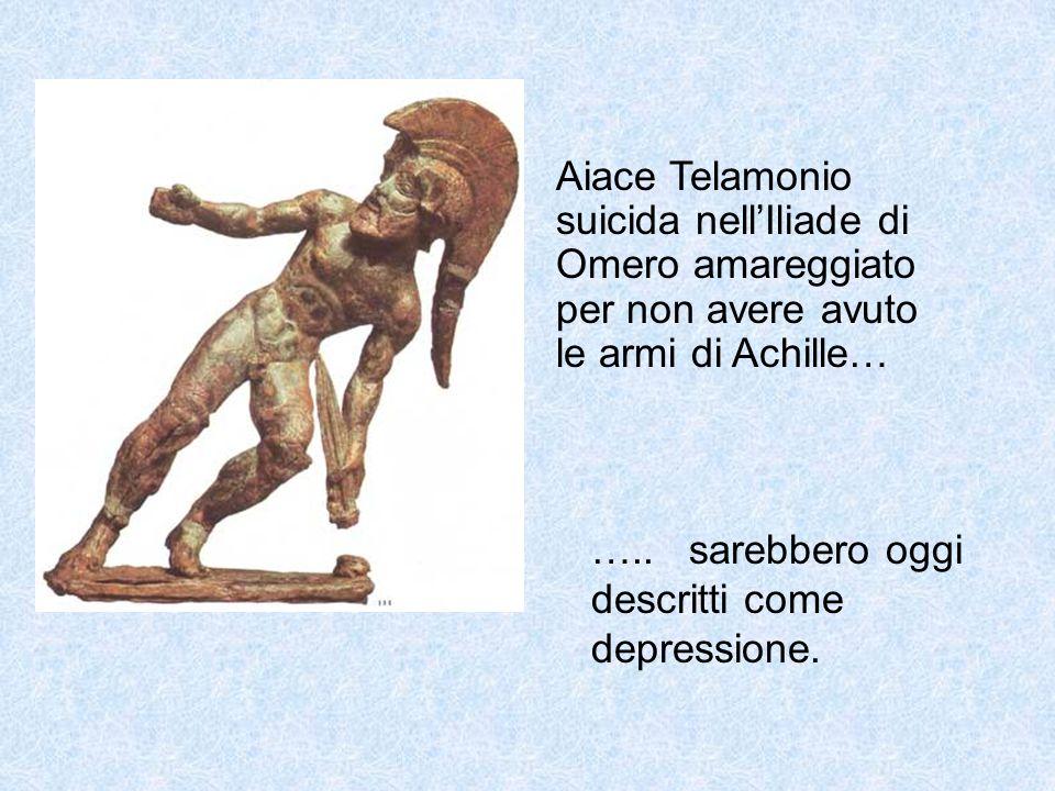 Aiace Telamonio suicida nell'Iliade di Omero amareggiato per non avere avuto le armi di Achille…