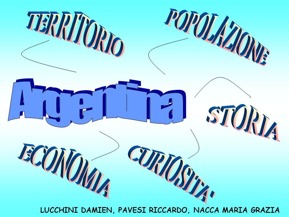 TERRITORIO POPOLAZIONE Argentina STORIA ECONOMIA CURIOSITA