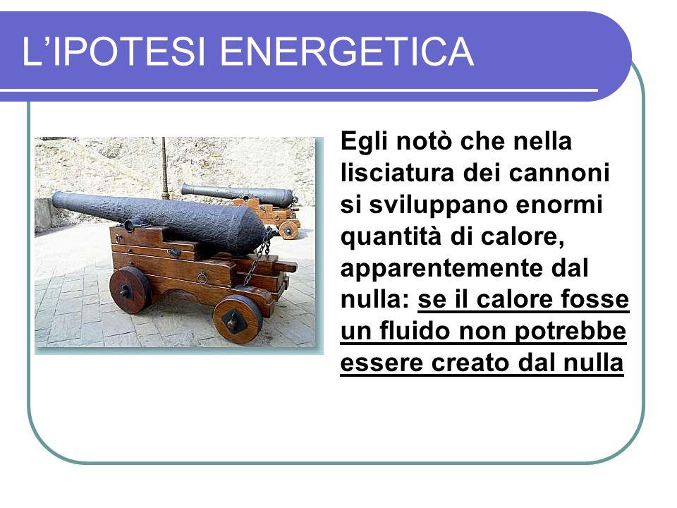 L'IPOTESI ENERGETICA