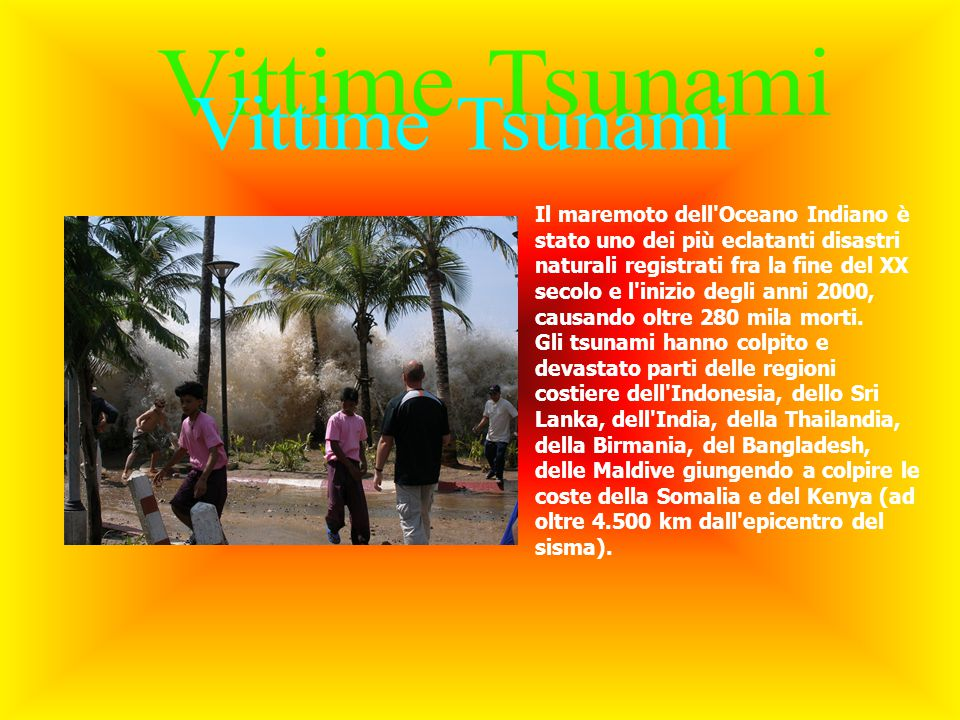 Vittime Tsunami