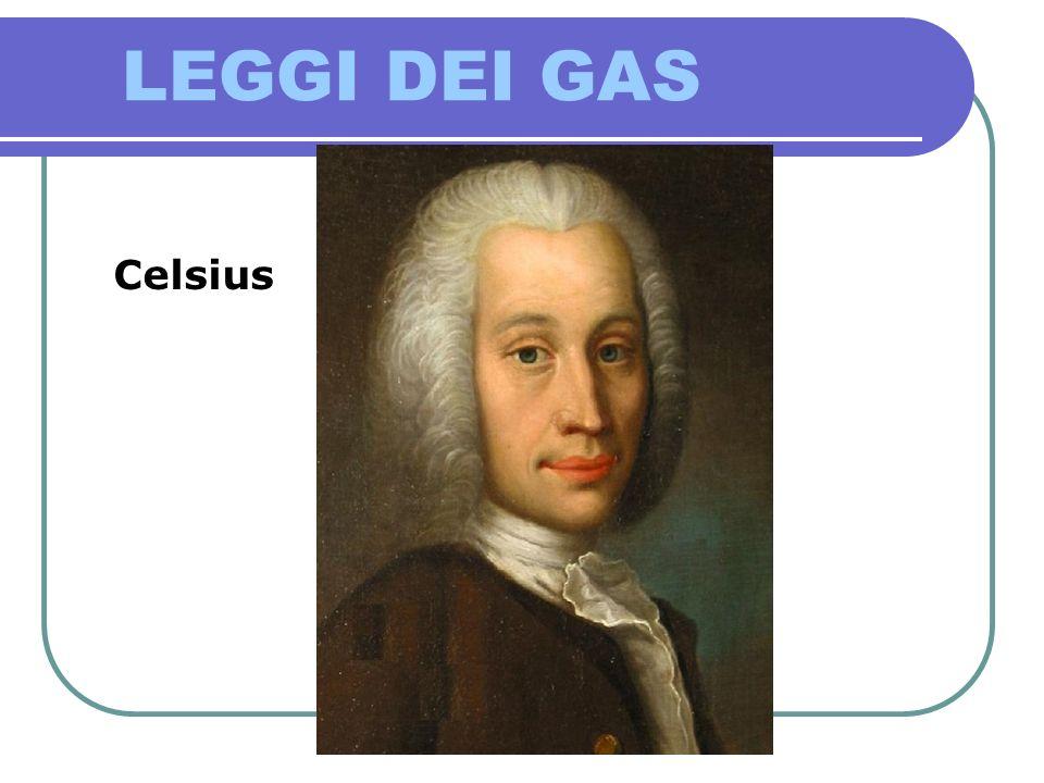 LEGGI DEI GAS LEGGE DI BOYLE Celsius