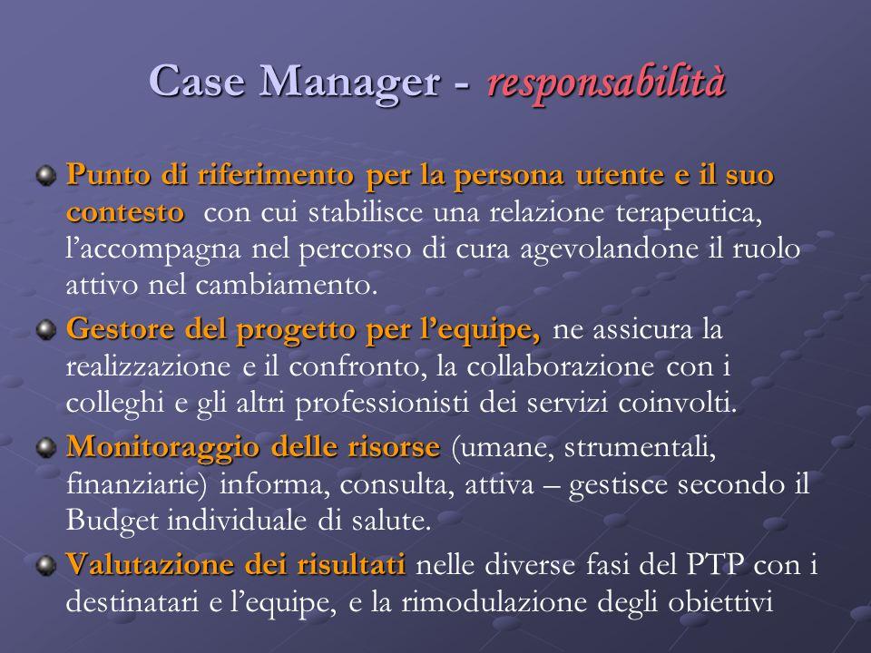Case Manager - responsabilità