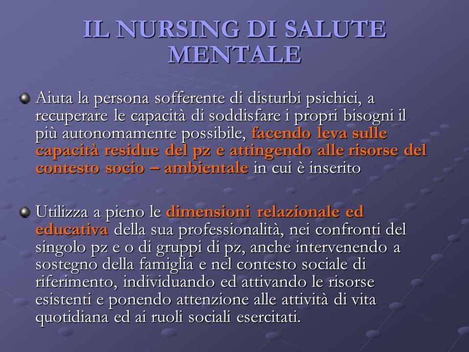 IL NURSING DI SALUTE MENTALE