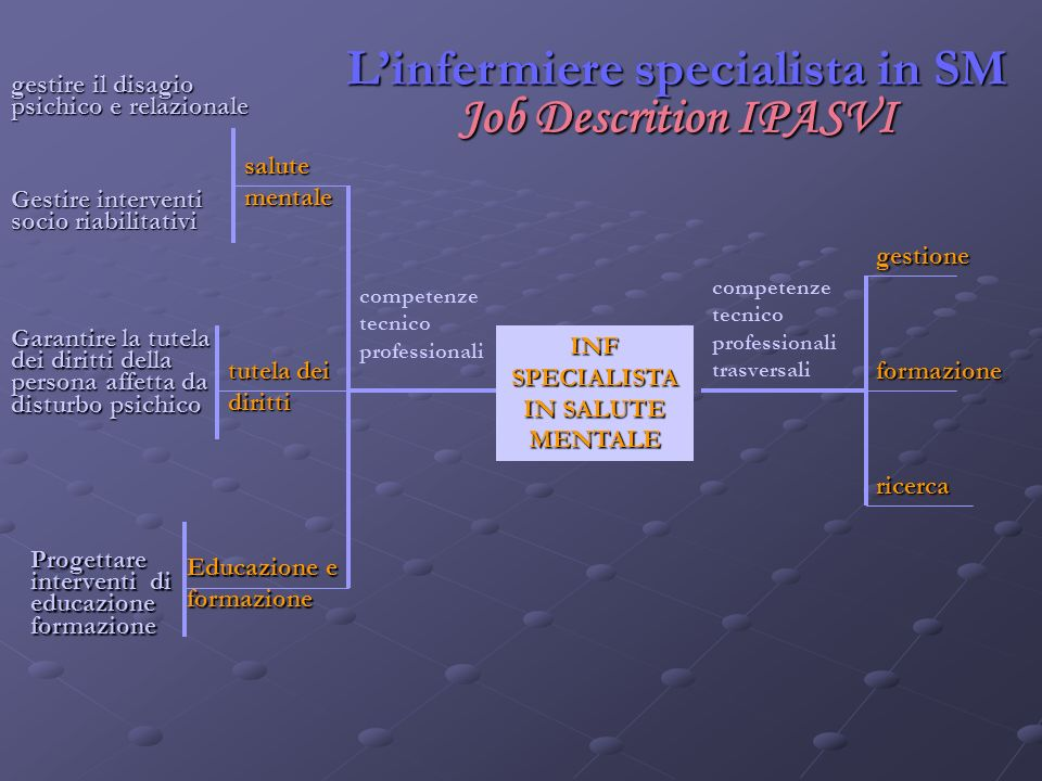 L'infermiere specialista in SM Job Descrition IPASVI