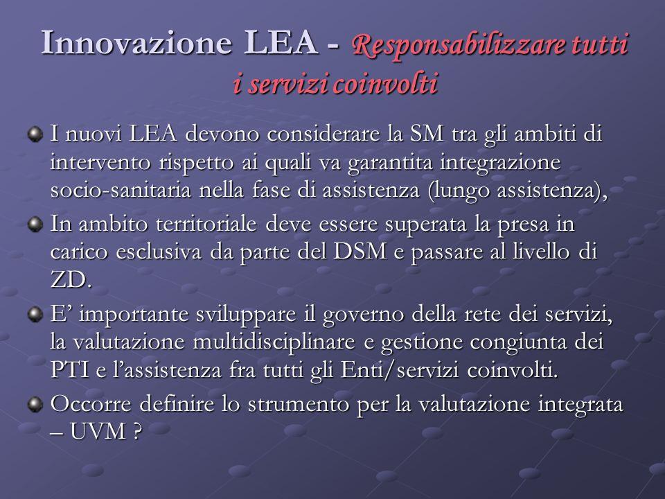 Innovazione LEA - Responsabilizzare tutti i servizi coinvolti