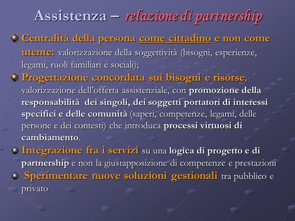 Assistenza – relazione di partnership