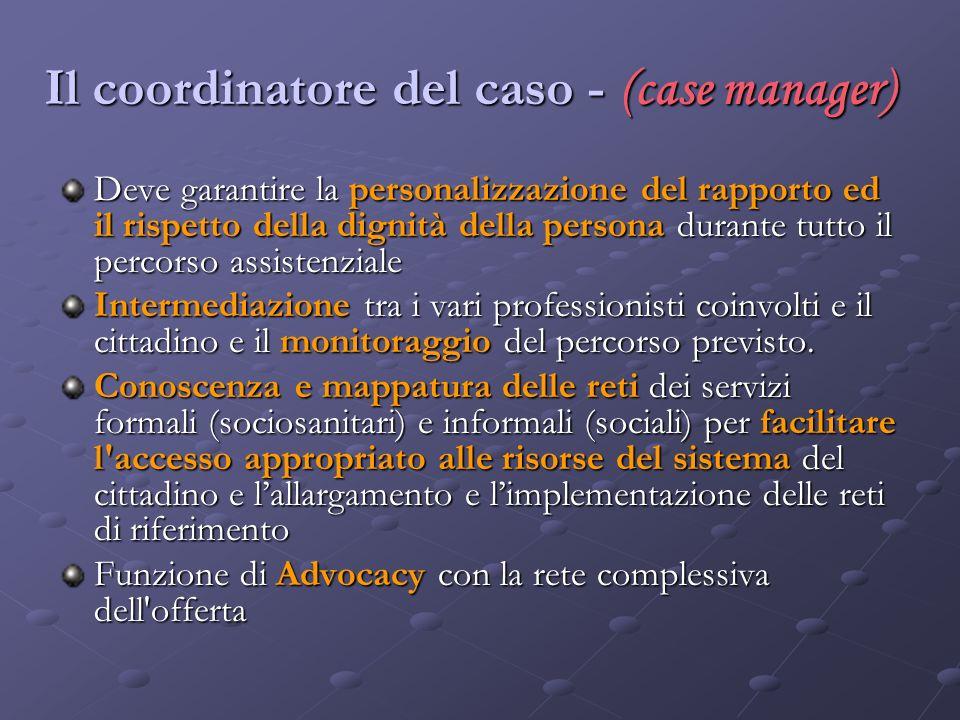 Il coordinatore del caso - (case manager)