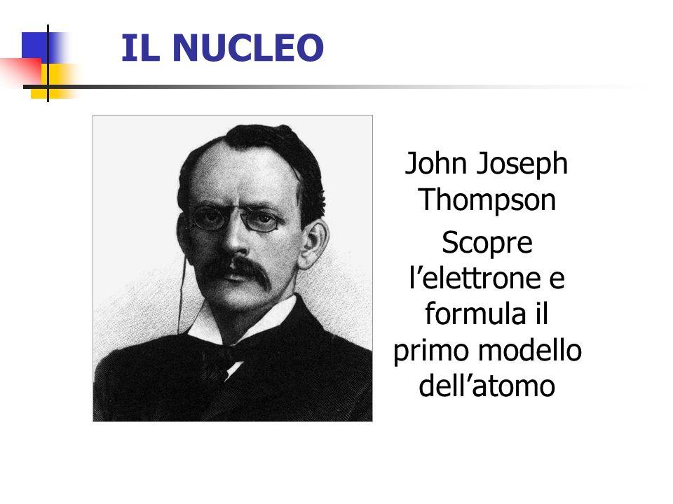 Scopre l'elettrone e formula il primo modello dell'atomo