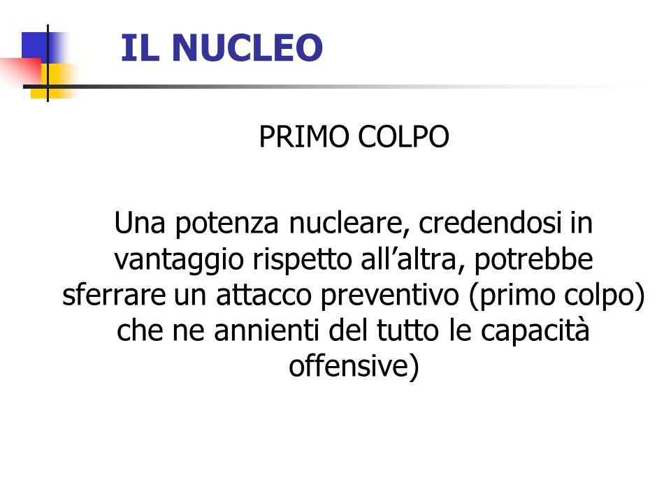 IL NUCLEO PRIMO COLPO.