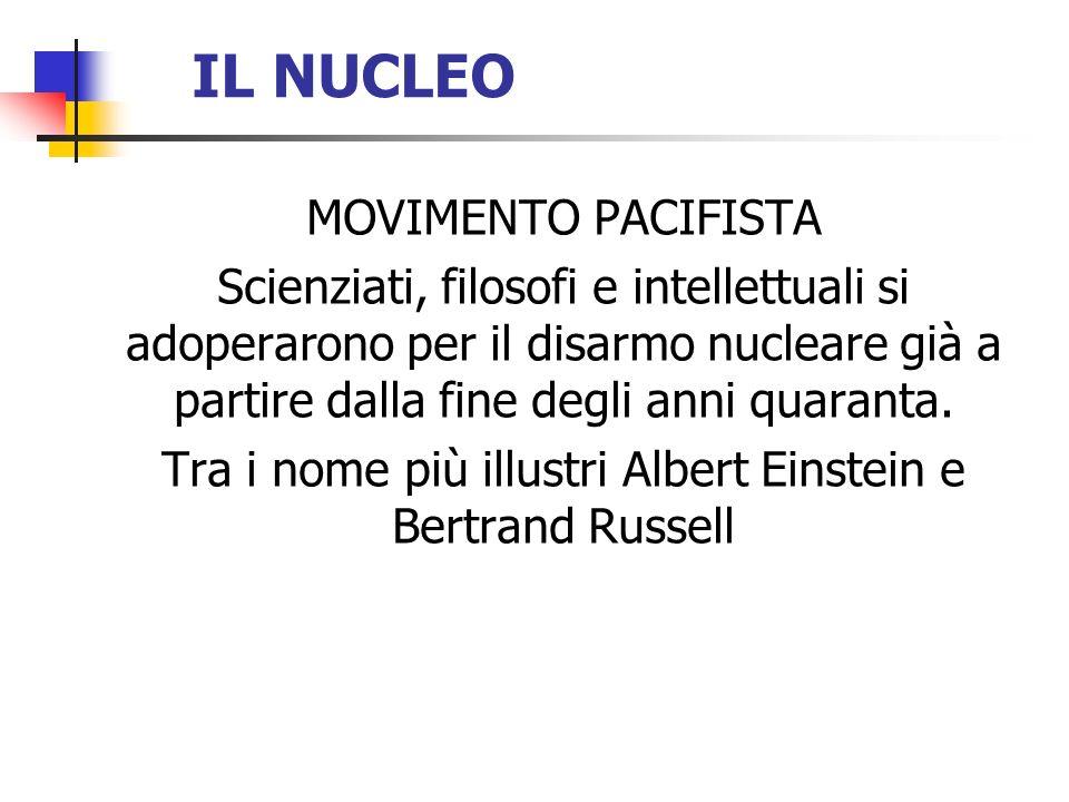 Tra i nome più illustri Albert Einstein e Bertrand Russell