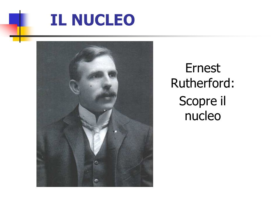 Ernest Rutherford: Scopre il nucleo