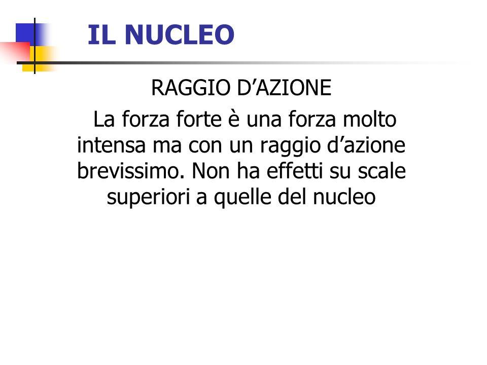 IL NUCLEO RAGGIO D'AZIONE
