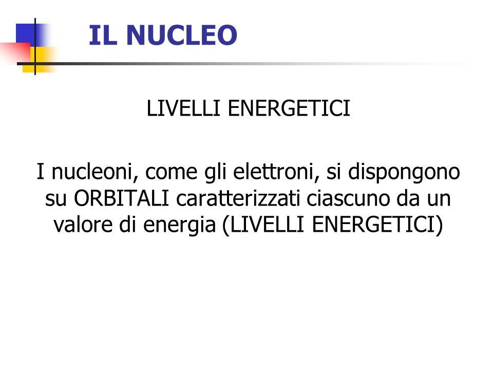 IL NUCLEO LIVELLI ENERGETICI