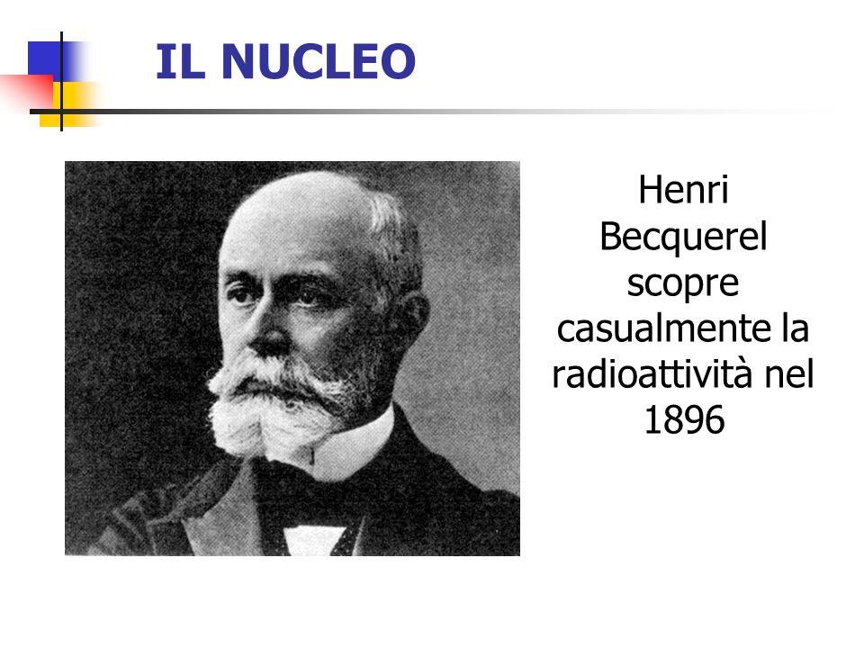 Henri Becquerel scopre casualmente la radioattività nel 1896