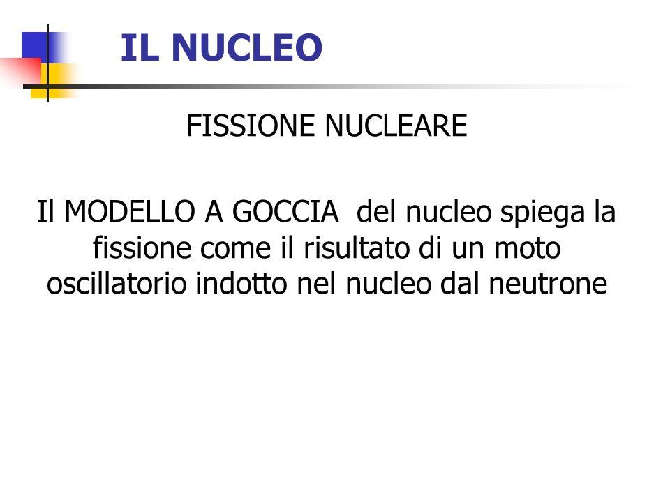 IL NUCLEO FISSIONE NUCLEARE