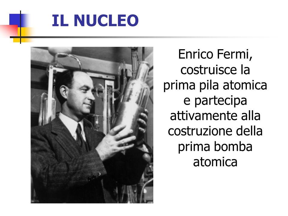 IL NUCLEO Enrico Fermi, costruisce la prima pila atomica e partecipa attivamente alla costruzione della prima bomba atomica.
