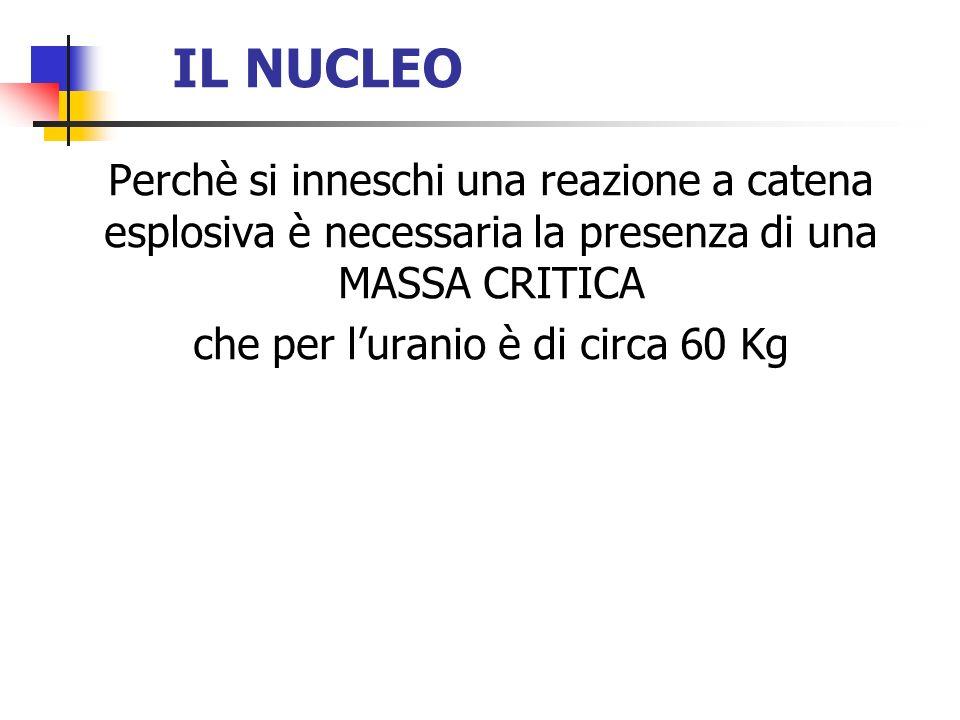 che per l'uranio è di circa 60 Kg