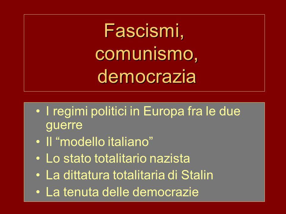 Fascismi, comunismo, democrazia