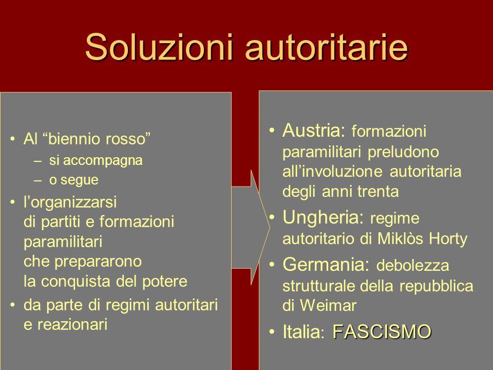 Soluzioni autoritarie