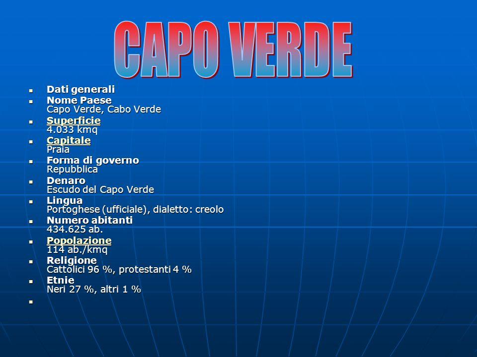 CAPO VERDE Dati generali Nome Paese Capo Verde, Cabo Verde