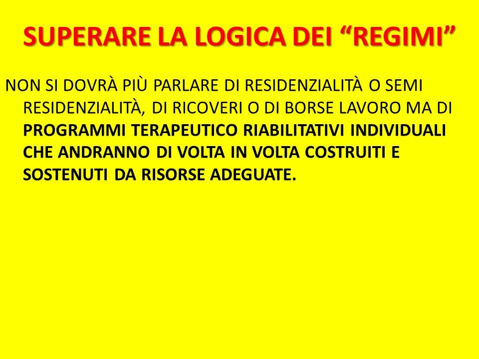 SUPERARE LA LOGICA DEI REGIMI