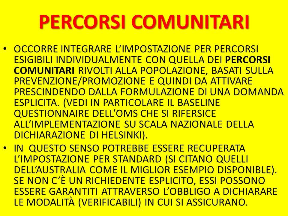 PERCORSI COMUNITARI