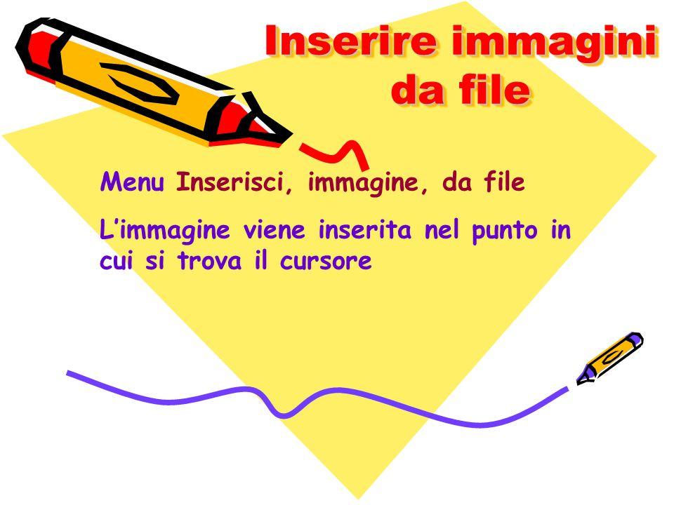 Inserire immagini da file