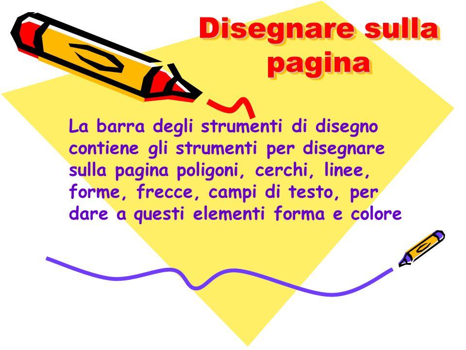 Disegnare sulla pagina