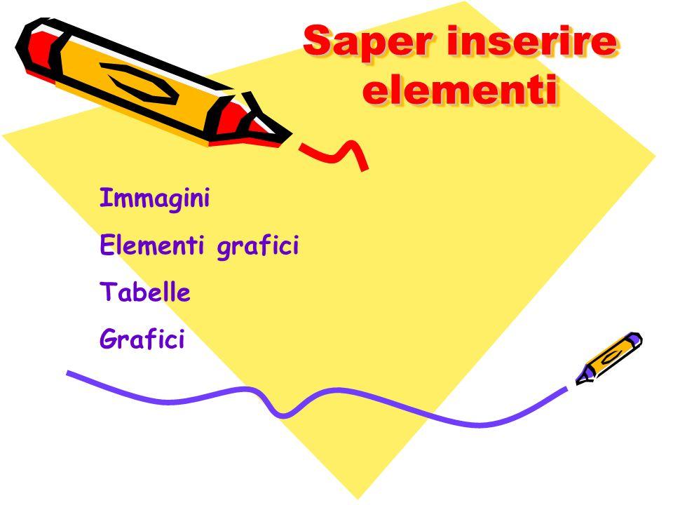 Saper inserire elementi