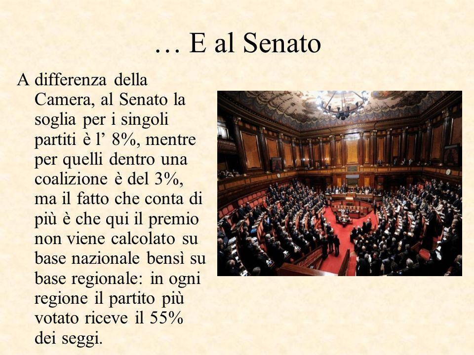 … E al Senato