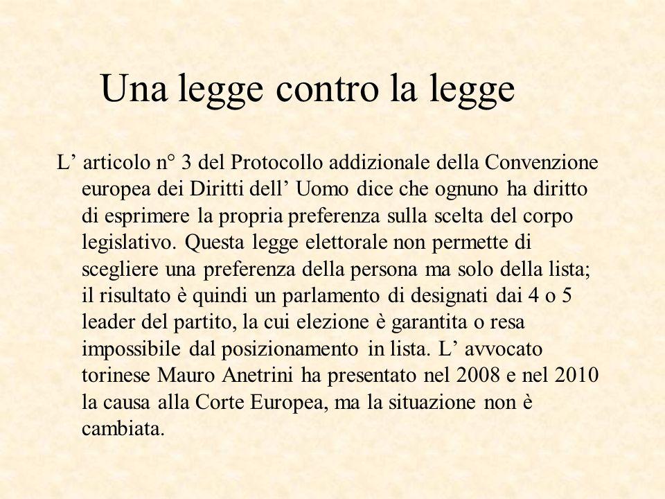 Una legge contro la legge