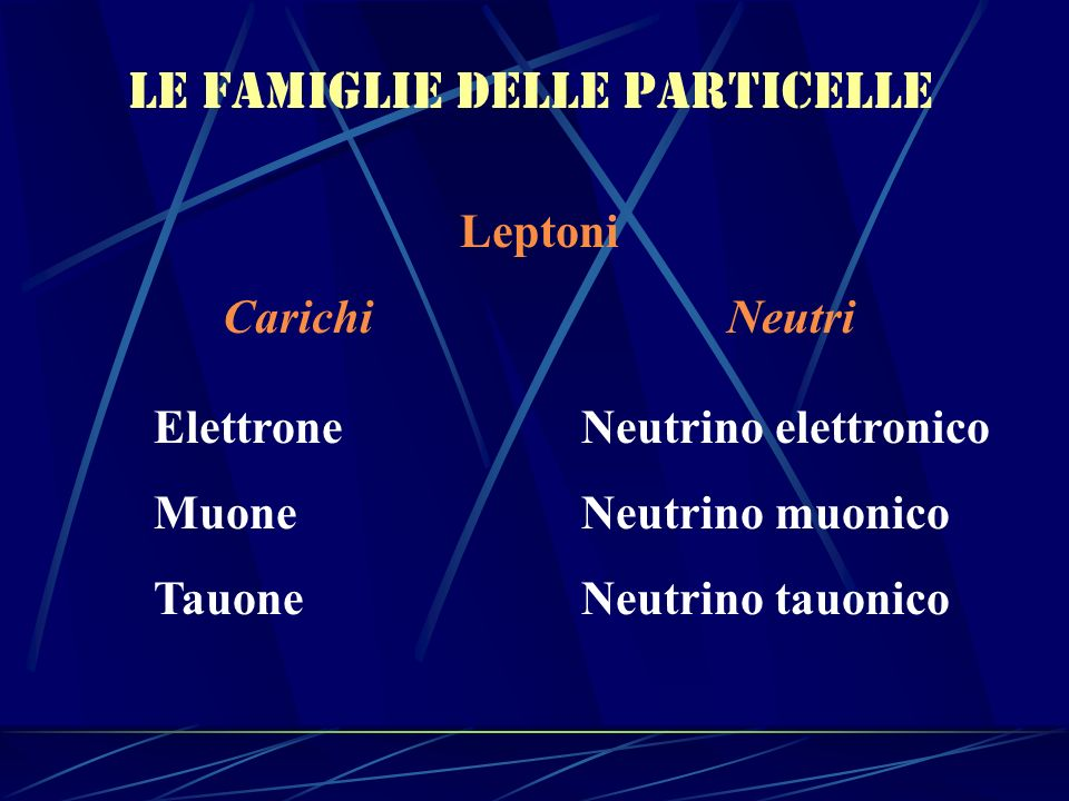 Le famiglie delle particelle