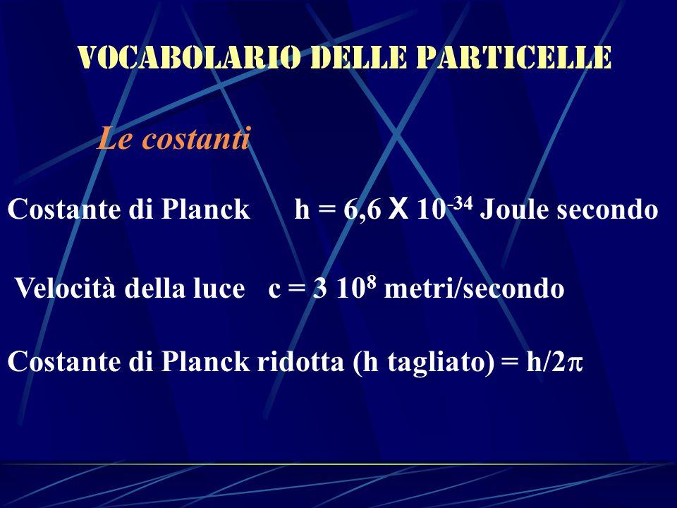 Vocabolario delle particelle