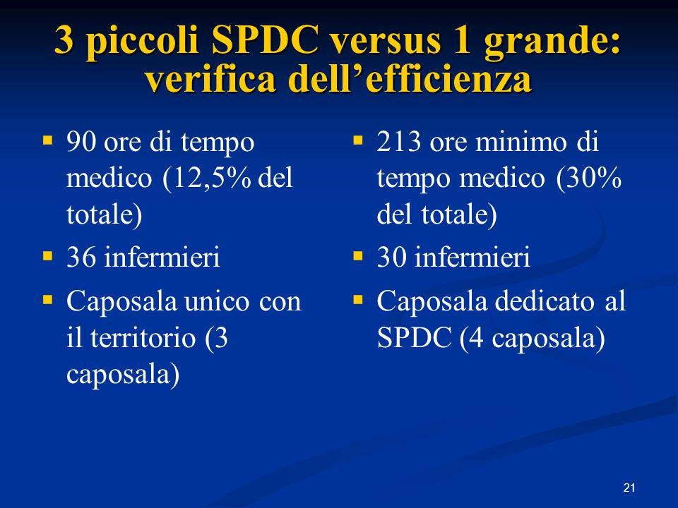 3 piccoli SPDC versus 1 grande: verifica dell'efficienza