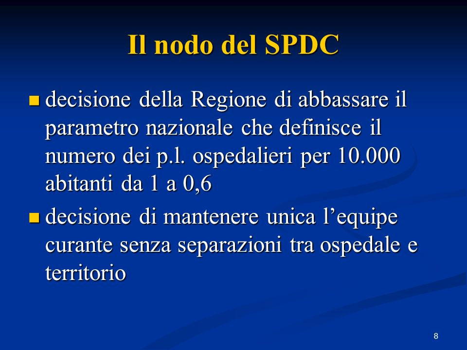 Il nodo del SPDC
