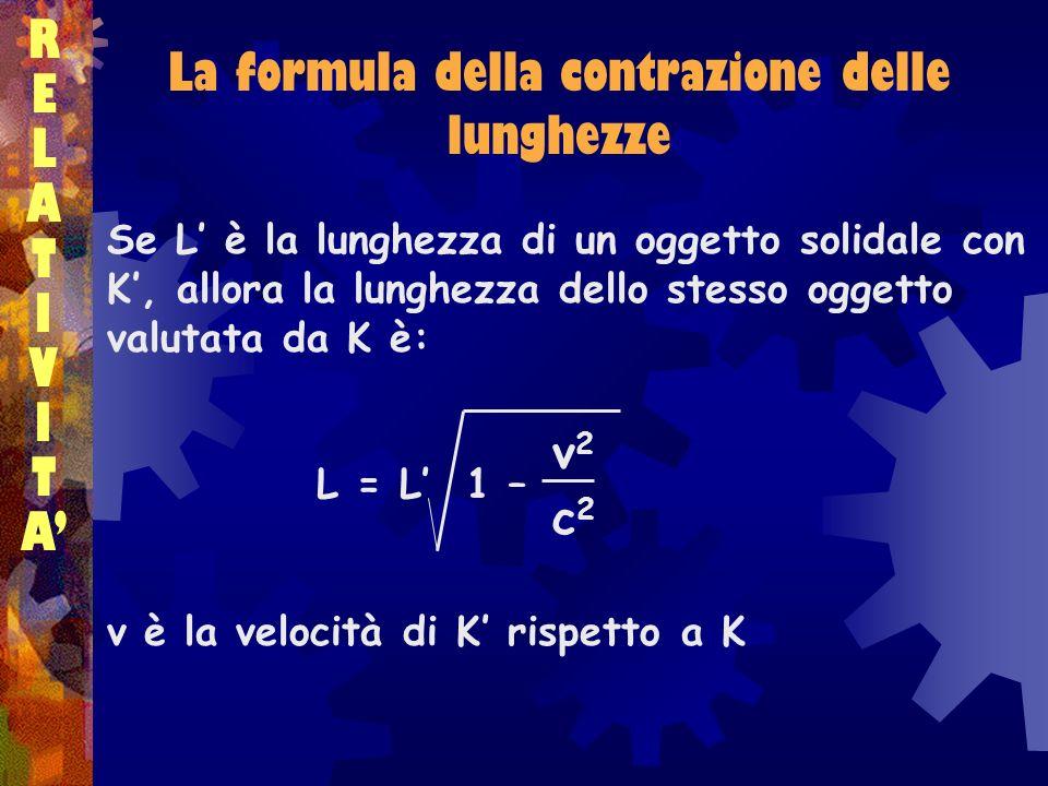 La formula della contrazione delle lunghezze